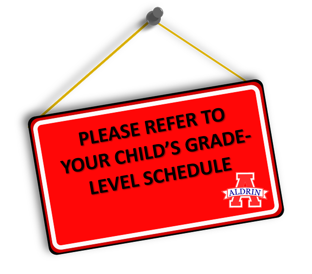 Please see your child's grade level schedule for lunch times.