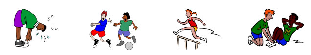 clip art of students playing sports activities